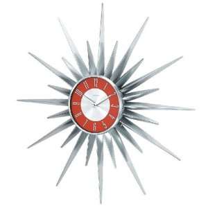 Oversize Colored Metal Sunshine Wall Clock[1688RED]
