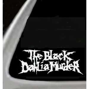 THE BLACK DAHLIA MURDERS White 6 Vinyl STICKER / DECAL