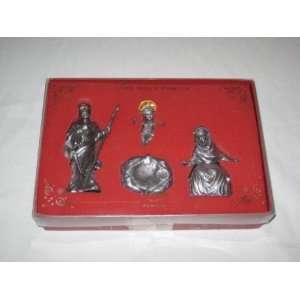 Lenox 4 Piece Pewter The Holy Family Nativity Set