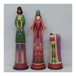 Enesco Jim Shore Heartwood Creek Pencil Nativity Holy Family 3 Piece