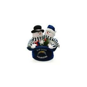 12 NFL San Digeo Chargers Snowmen Top Hat Table Christmas Decora