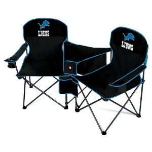 Detroit Lions NFL Deluxe Folding Conversation Arm Chair by Northpole