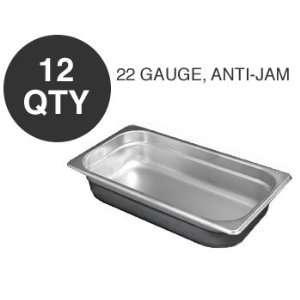 12 THIRD SIZE 2.5D ANTI JAM STEAM TABLE PAN   NSF