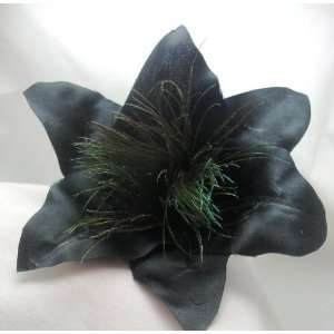 Black Lily Hair Flower Clip