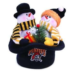 12 MLB Pittsburgh Pirates Snowmen Top Hat Table Christmas