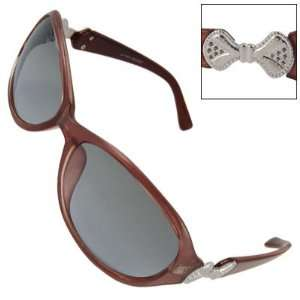 Como Rosybrown Plastic Frame Tinted Lens Sunglasses for