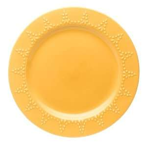 & Then Set of Six 11 inch Dinner Plate, Golden Rod