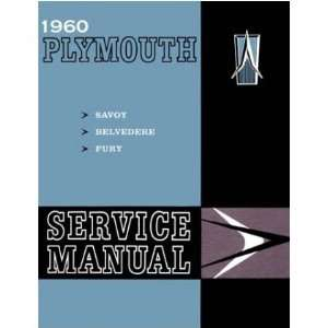 1960 PLYMOUTH BELVEDERE FURY SAVOY Service Manual Book