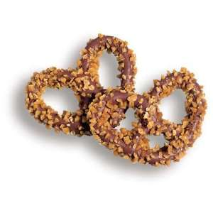 Milk Chocolate Gourmet Pretzels W/Toffee: 6LBS:  Grocery