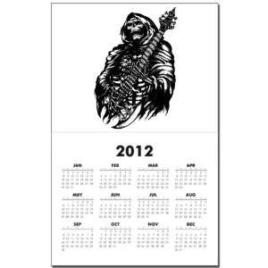 Calendar Print w Current Year Grim Reaper Heavy Metal Rock Player