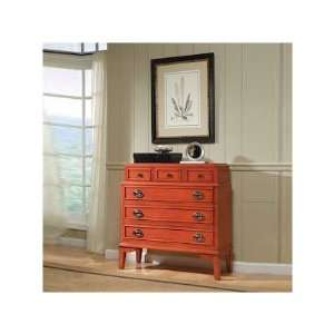 Torta Del Accent Chest in Tomato Red Furniture & Decor