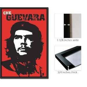Framed Che Guevara Poster Red Background FrPo7003