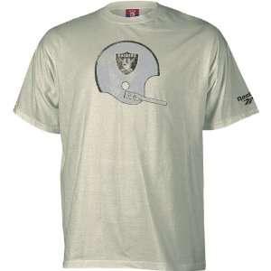 Reebok Oakland Raiders Retro Helmet T Shirt Size Large