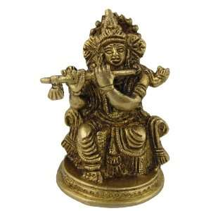 Statues Hindu Religious Brass Sculpture Lord Krishna: Home