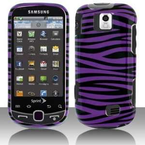 Samsung M910/Intercept Purple/Black Zebra Snap on Hard