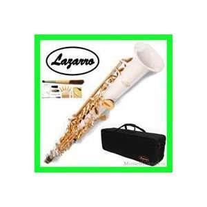 NEW Band White/Gold Soprano Saxophone/Sax Lazarro+11 Reeds