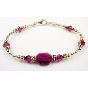 2 Piece Bracelet & Earring SET 14K Gold Swarovski Crystal