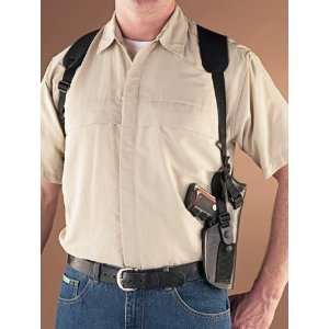 Leather / Nylon Tactical Shoulder Holster, LH:  Sports