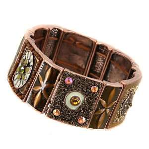 Fashion Jewelry Desinger Inspired Brown Flower Bracelet