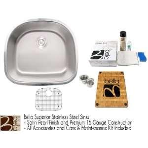 Premium 16 Gauge Stainless Steel Undermount Kitchen / Bar / Prep Sink