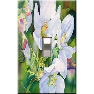 Blossoms Decorative Single Light Switchplate Cover