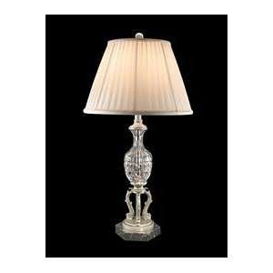 Dale Tiffany GT60681 Helena Table Lamp, Pewter and Fabric Shade