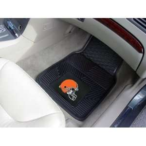 Browns 2 PIECE RUBBER/VINYL CAR/TRUCK/AUTO FLOOR MATS