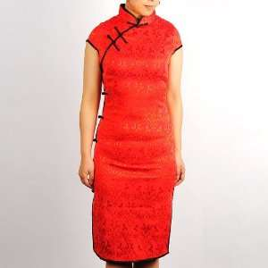 Women Sleeveless Mini Dress Cheongsam Red Available Sizes 0, 2, 4, 6