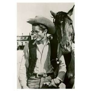 ) James Dean Giant MOVIE POSTER rare pic Western COOL