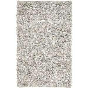 Safavieh Leather Shag Lsg511c White 6 Square Area Rug: Home & Kitchen