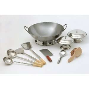 Rose 1007 13 Piece Professional Wok Cooking Set Kitchen & Dining