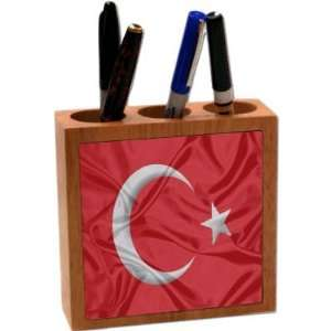 com Rikki KnightTM Turky Flag 5 Inch Tile Maple Finished Wooden Tile