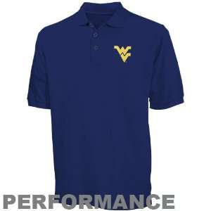 Nike West Virginia Mountaineers Navy Blue Dri Fit Polo