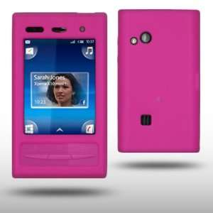 SONY ERICSSON X10 MINI PRO HOT PINK SILICONE SKIN CASE BY
