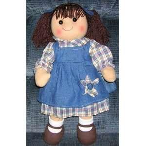 Rag Doll 16 Tall   Dark Brunette   Denim Dress