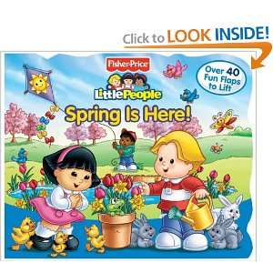 Fisher Price Little People Lift the Flap Book Spring is
