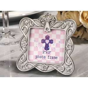 Silver Blessed Events Cross Design Photo Frames Health