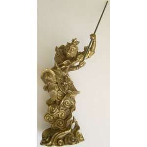 Brass Monkey King Statue Figurine 7