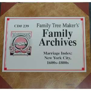 Family Tree Makers Family Archives   Marriage Index New