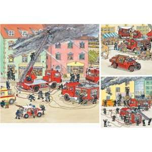 The Fire Brigade 3 in 1 Jigsaw Puzzle 49pc Toys & Games