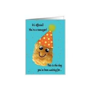 Boy 13 Happy Birthday Funny Tater Tot Card Toys & Games