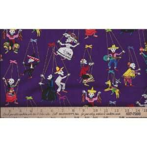 Marionetas De Los Muertos Day of the Dead Fabric I Spy Toy
