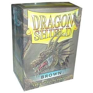 Dragon Shield Sleeves   BROWN   Standard Size Deck Protectors (100 ct)