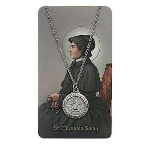 Gift Set PSD600EAS St. Saint Elizabeth Ann Prayer Card Set Jewelry