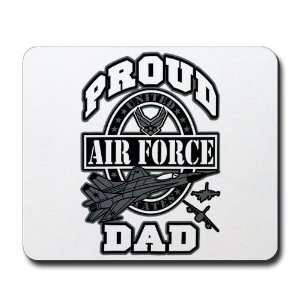 Mousepad (Mouse Pad) Proud Air Force Dad Jets Everything Else