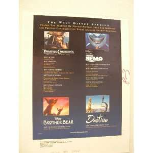 Ad Proof Pirates of The Carribean Johnny Depp Finding Nemo Brother