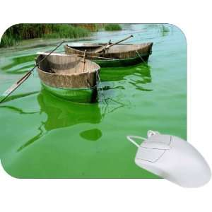 Rikki Knight Fishing boat on Green Water Mouse Pad Mousepad   Ideal