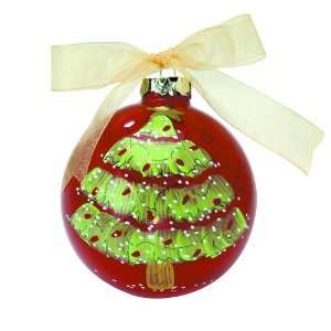 Light of Mine Ornament, Christmas Tree on Red Baby