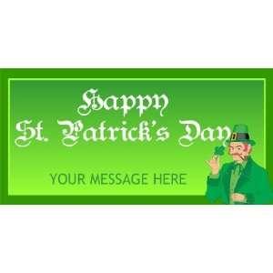 3x6 Vinyl Banner   Black Letter St Patricks Day