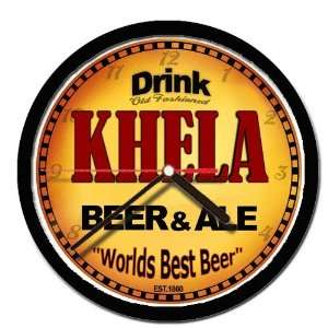 KHELA beer and ale cerveza wall clock: Everything Else
